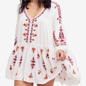 Free People Arianna Embroidered Tunic mini dress